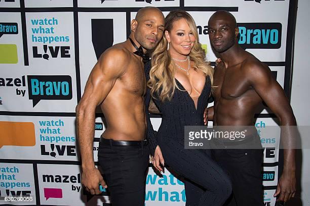Mariah Carey with her backup dancers