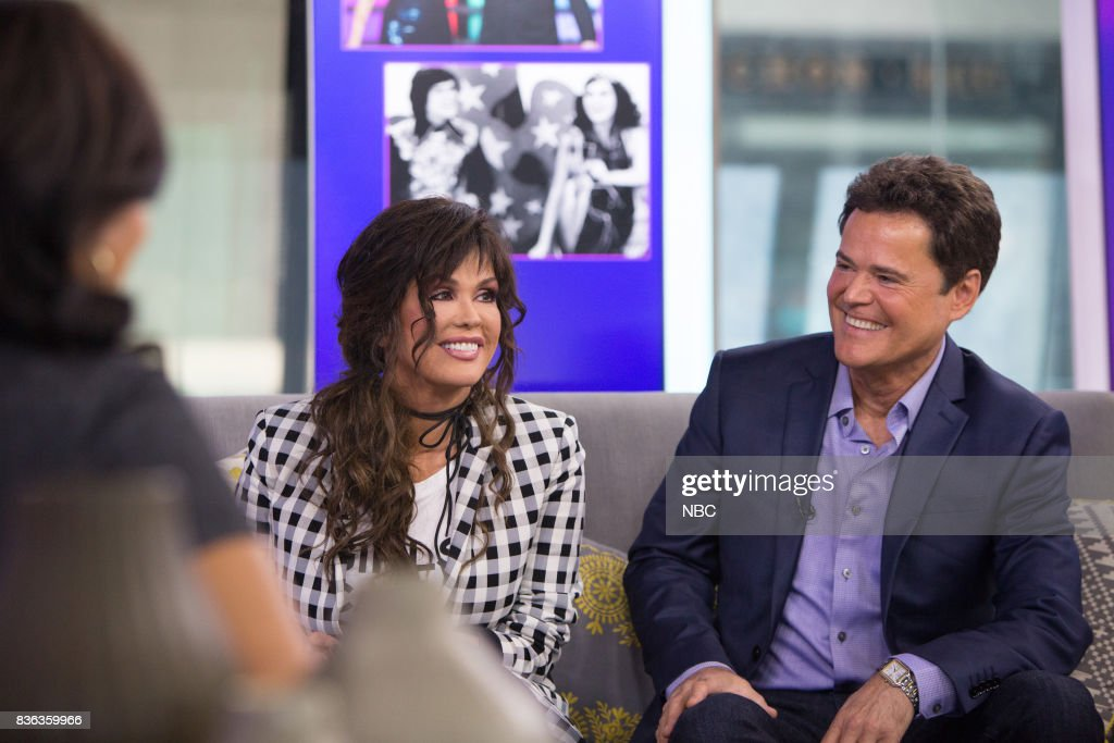 Marie and Donny Osmond on Monday, August 21, 2017 --