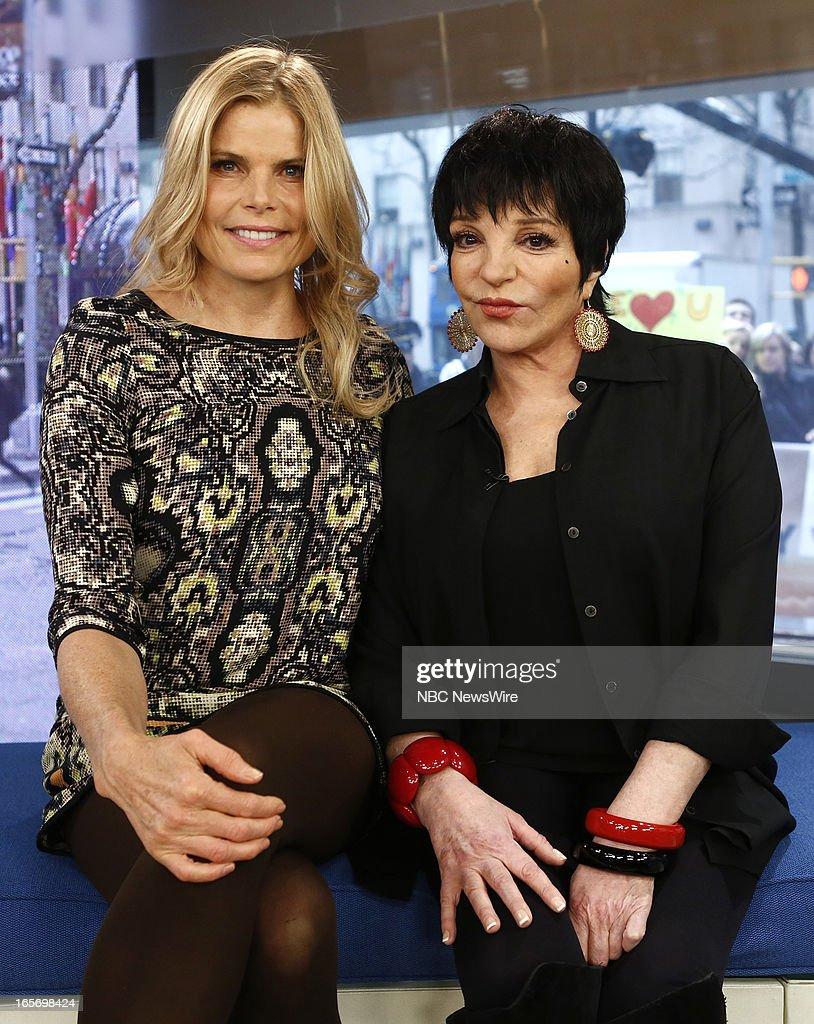 Mariel Hemingway and Liza Minnelli appear on NBC News' 'Today' show --