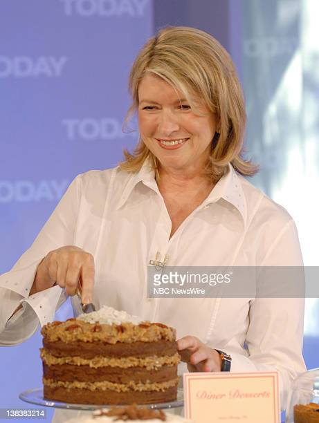 Martha Stewart cooks in NBC News' TODAY kitchen while talking about the new movie No Reservations on July 25 2007