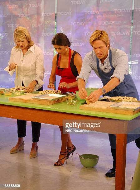 Martha Stewart cooks in NBC News' TODAY kitchen while talking to actors Catherine ZetaJones and Aaron Eckhart about their new movie No Reservations...