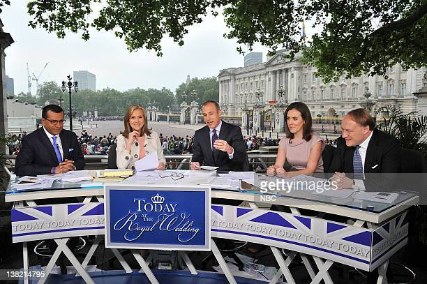 Martin Bashir Meredith Vieira Matt Lauer Camilla Tominey Andrew Roberts TODAY broadcasts the Royal Wedding live from London