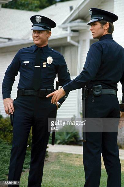 ADAM12 Pictured Martin Milner as Officer Peter Joseph 'Pete' Malloy Kent McCord as Officer James A 'Jim' Reed