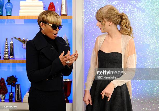 Mary J Blige and Taylor Swift appear on NBC News' 'Today' show