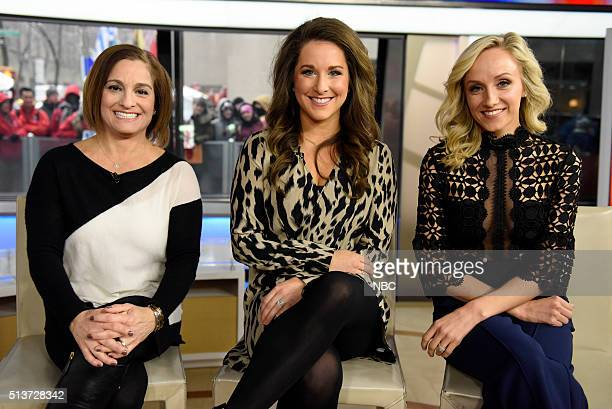 Mary Lou Retton Carly Patterson and Nastia Liukin appear on the 'Today' show on Friday March 4 2016 in New York