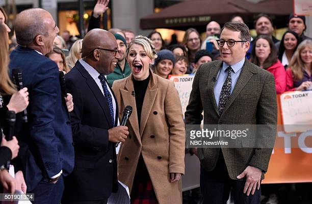 Matt Lauer Al Roker Annaleigh Ashford and Matthew Broderick appear on NBC News' 'Today' show