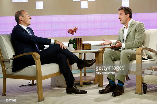 Matt Lauer and Ben Fogle appear on NBC News' Today show