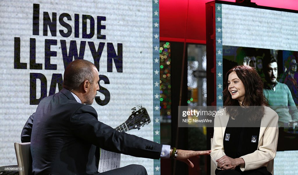 Matt Lauer and Carey Mulligan appear on NBC News' 'Today' show --