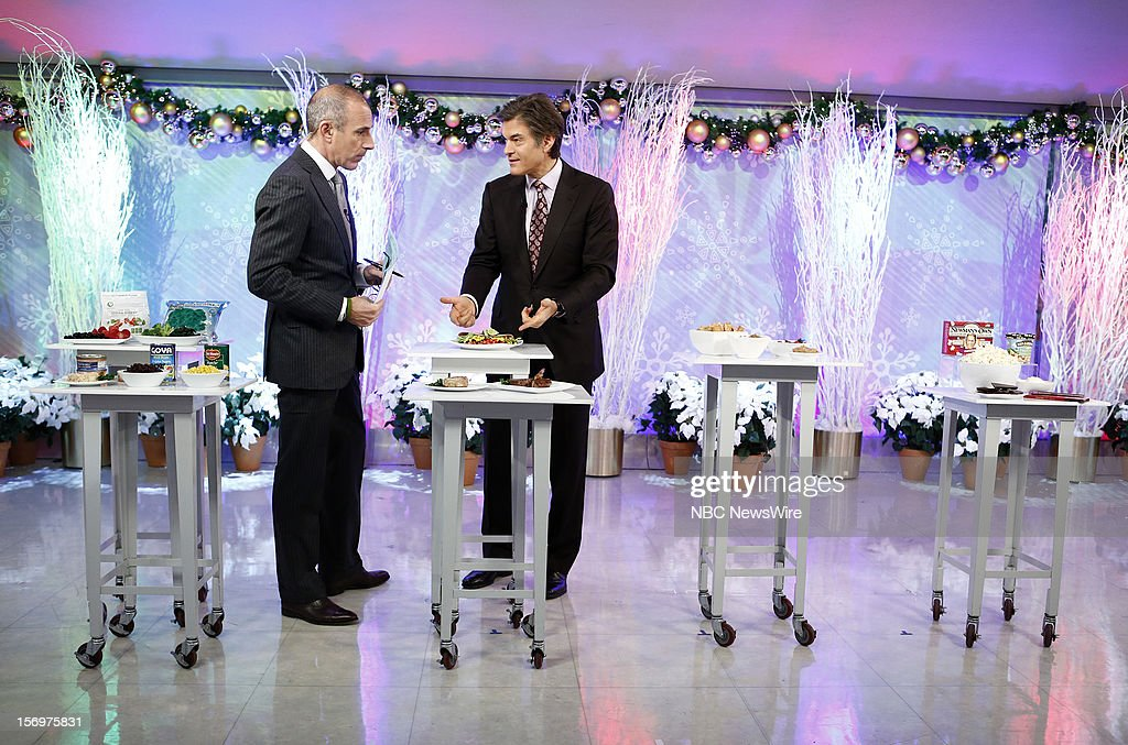 Matt Lauer and Dr. Mehmet Oz appear on NBC News' 'Today' show --