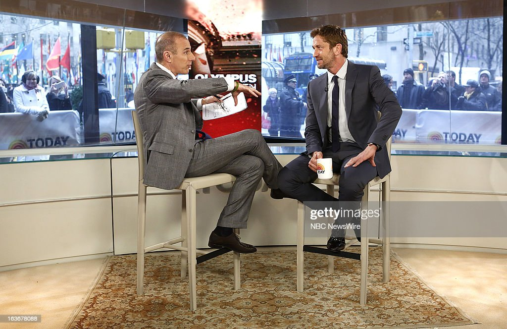 Matt Lauer and Gerard Butler appear on NBC News' 'Today' show --