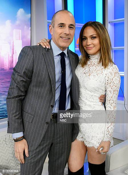 Matt Lauer and Jennifer Lopez appear on the 'Today' show on Tuesday March 1 2016