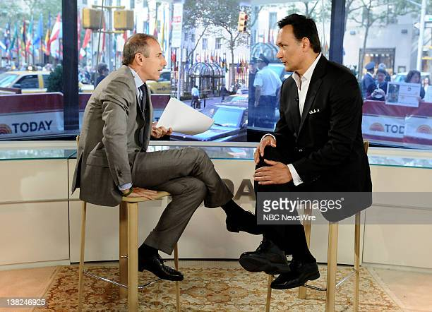 Matt Lauer and Jimmy Smits appear on NBC News' Today show