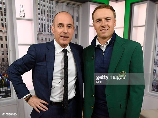 Matt Lauer and Jordan Spieth appear on the 'Today' show on Monday March 14 2016 from Rockefeller Plaza in New York