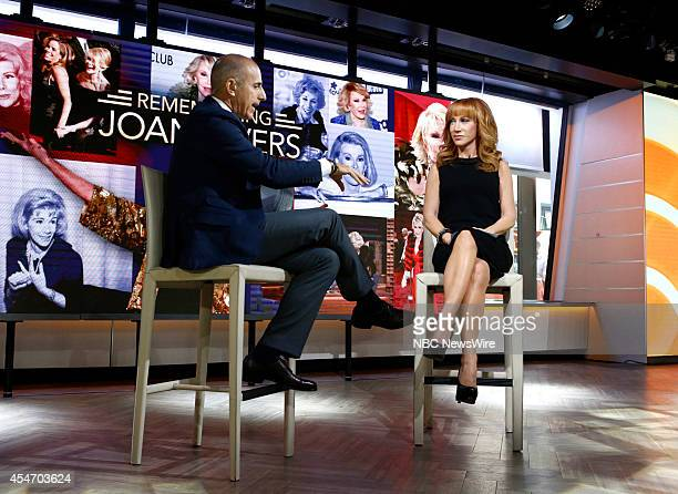 Matt Lauer and Kathy Griffin appear on NBC News' 'Today' show