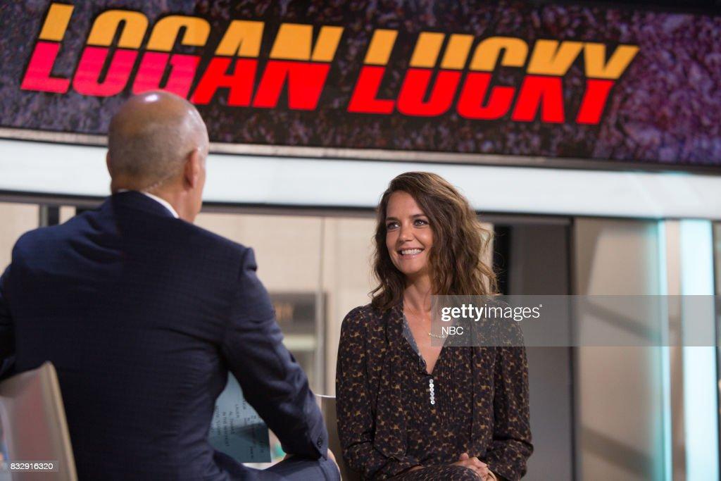 Matt Lauer and Katie Holmes on Wednesday, August 16, 2017 --