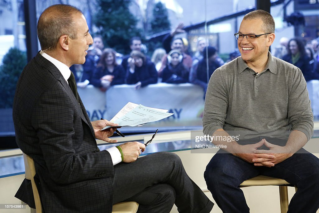 Matt Lauer and Matt Damon appear on NBC News' 'Today' show --