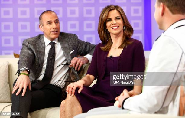 Matt Lauer and Natalie Morales appear on NBC News' 'Today' show
