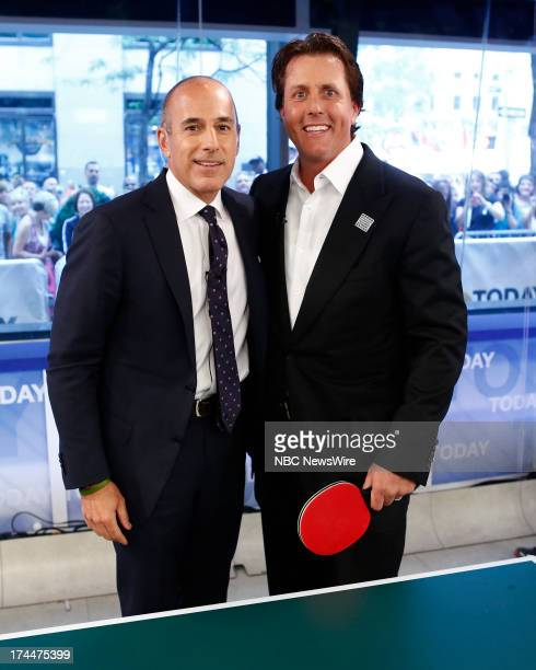 Matt Lauer and Phil Mickelson appear on NBC News' 'Today' show