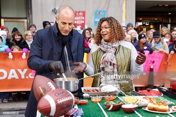 Matt Lauer and Sunny Anderson appear on NBC News' Today show