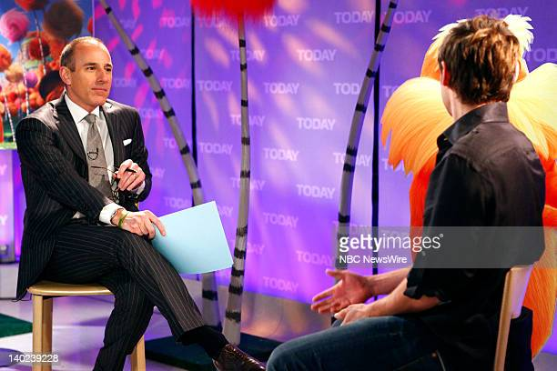 Matt Lauer and Zac Efron appear on NBC News' Today show