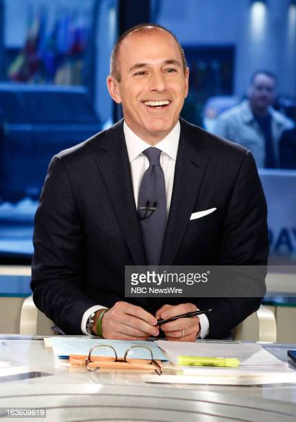 Matt Lauer appears on NBC News' Today show