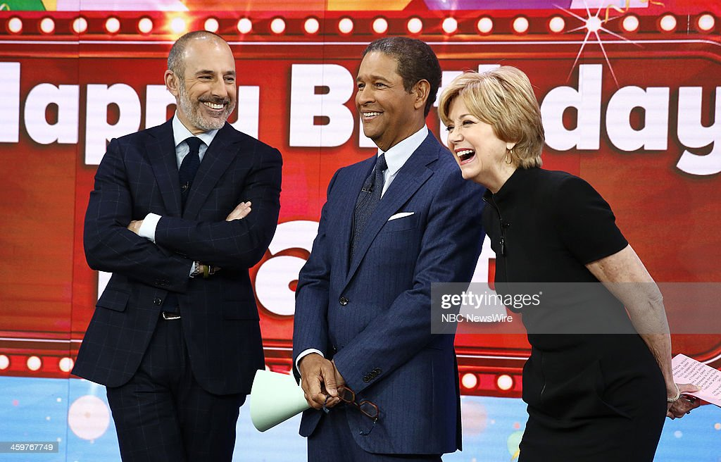 Matt Lauer, Bryant Gumbel and Jane Pauley appear on NBC News' 'Today' show --