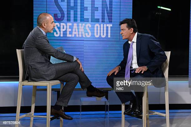 Matt Lauer Charlie Sheen
