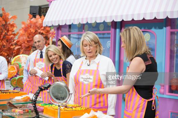 Matt Lauer Dylan Dreyer Martha Stewart Jenna Bush Hager Chocofeller Plaza on Monday October 23 2017