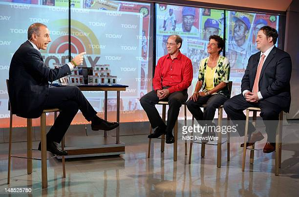 Matt Lauer Karl Kissner Karla Hench and Chris Ivy appear on NBC News' Today show