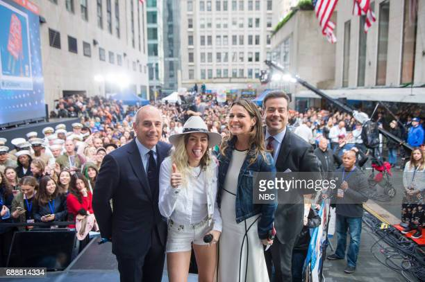 Matt Lauer Miley Cyrus Savannah Guthrie and Carson Daly on Friday May 26 2017