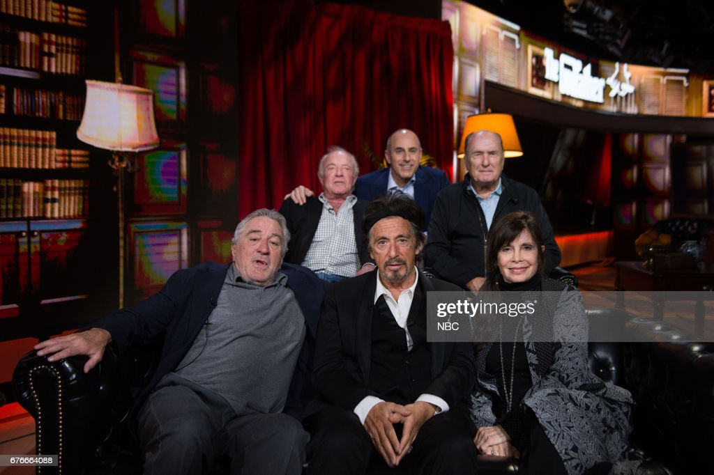 Matt Lauer, Robert De Niro, Al Pacino, James Caan, Robert Duvall and Talia Shire on Saturday, April 29, 2017 --