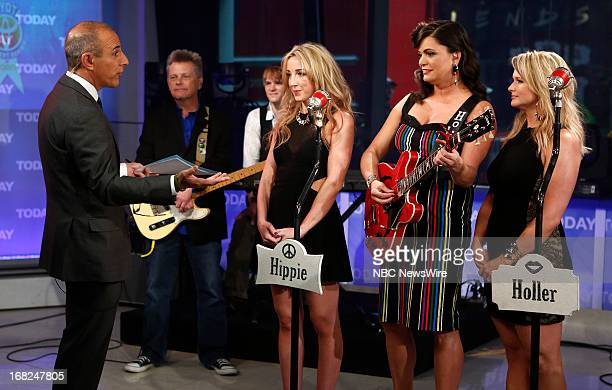 Matt Lauer talks with Ashley Monroe Angaleena Presley and Miranda Lambert of the Pistol Annie's on NBC News' Today show