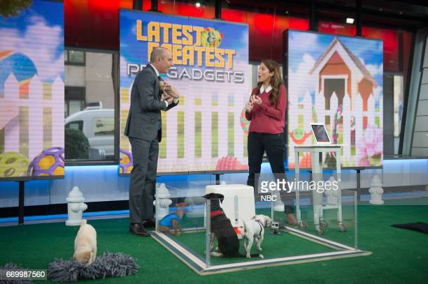 Matt Lauer with Pet expert Andrea Arden visited the Global Pet Expo brought her favorite finds to TODAY including the Wooly Snuffle Mat which lets...