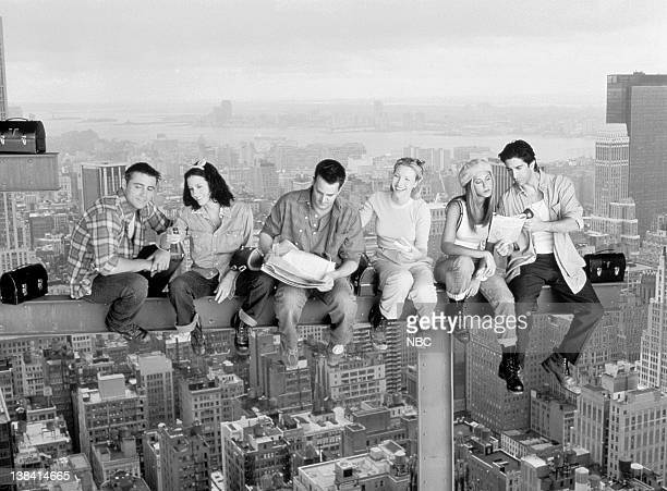 Matt LeBlanc as Joey Tribbiani, Courteney Cox Arquette as Monica Geller, Matthew Perry as Chandler Bing, Lisa Kudrow as Phoebe Buffay, Jennifer...
