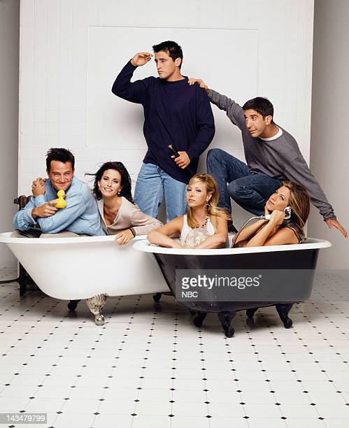 Matthew Perry as Chandler Bing, Courteney Cox as Monica Geller, Matt LeBlanc as Joey Tribbiani, Lisa Kudrow as Phoebe Buffay, David Schwimmer as Ross...