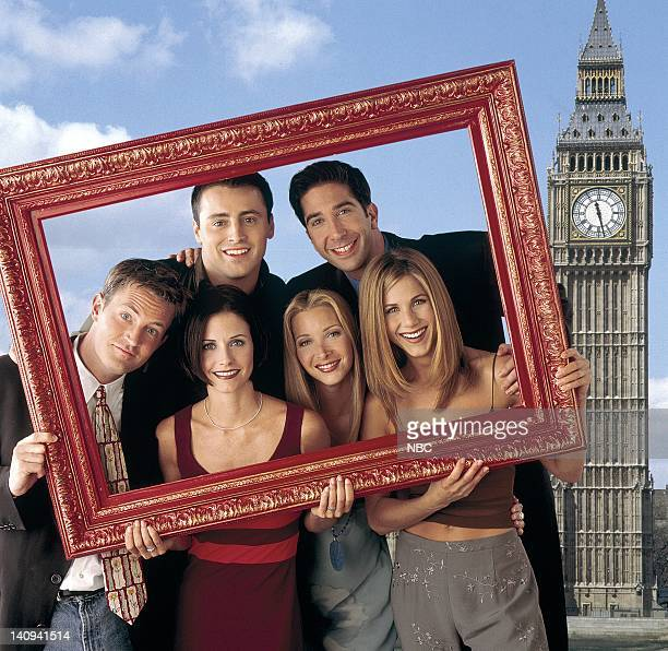 Matthew Perry as Chandler Bing, Matt Le Blank as Joey Tribbiani, David Schwimmer as Ross Geller, Jennifer Aniston as Rachel Green, Lisa Kudrow as...