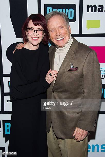 Megan Mullally and Dick Cavett