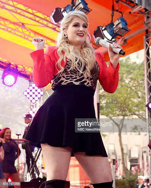 Meghan Trainor performs for the Toyota concert series on NBC News' 'Today' show