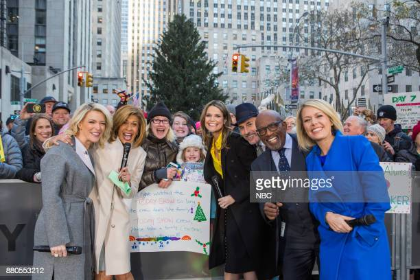 Megyn Kelly Hoda Kotb Savannah Guthrie Matt Lauer Al Roker and Dylan Dreyer on Monday November 27 2017