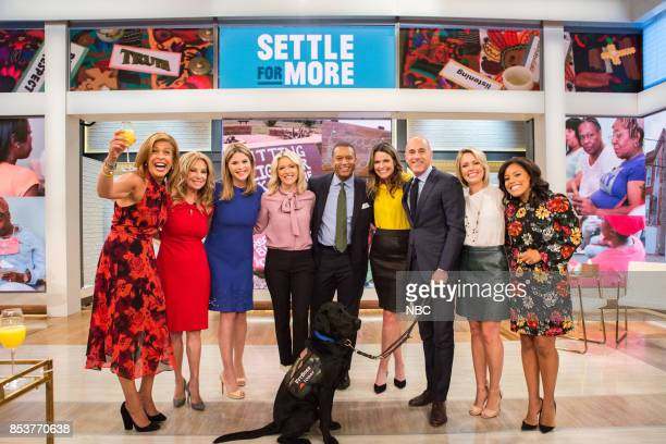 Megyn Kelly Matt Lauer Savannah Guthrie Jenna Bush Hager Dylan Dreyer Sheinelle Jones Hoda Kotb Kathie Lee Gifford and Craig Melvin on Monday...