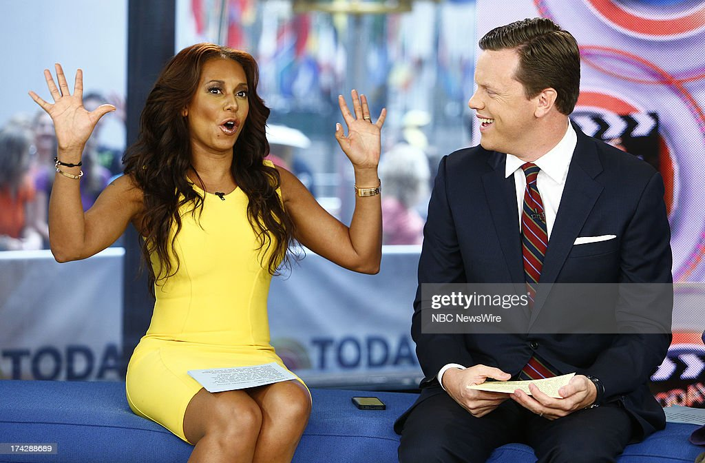 Melanie Brown (Mel B) and Willie Geist appear on NBC News' 'Today' show --