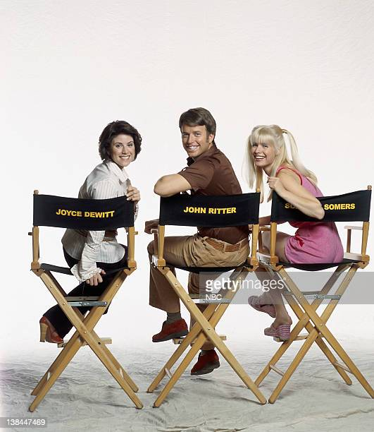 OF 'THREE'S COMPANY' Pictured Melanie Deanne Moore as Joyce DeWitt Bret Anthony as John Ritter Jud Tylor as Suzanne Somers