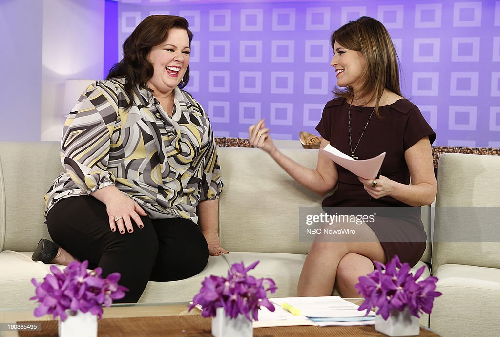 Melissa McCarthy and Savannah Guthrie appear on NBC News' 'Today' show --
