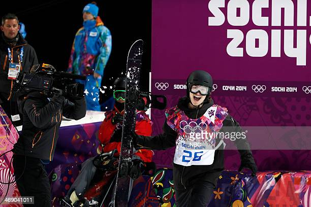 Men's Snowboarding Halfpipe Final Iouri Podladtchikov competes