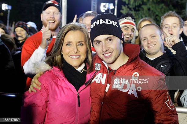 Meredith Vieira interviews Alexandre Bilodeau who is the first Canadian to win a Gold Medal during a Canadian Olympics