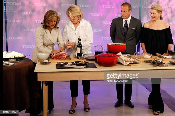 Meredith Vieira Martha Stewart Matt Lauer Alexis Stewart Martha Stewart and her daughter Alexis cook up delicious recipes on NBC News' Today
