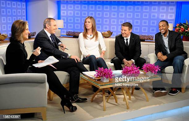 Meredith Vieira Matt Lauer Kathryn Bigelow Jeremy Renner and Anthony Mackie appear on NBC News' Today show