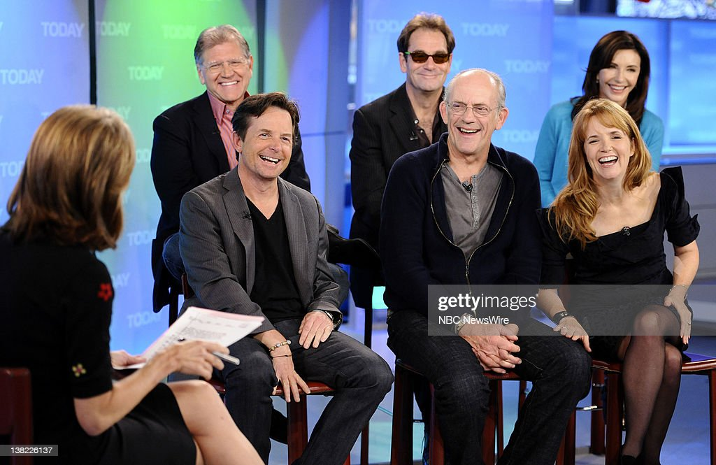 Meredith Vieira, Robert Zemeckis, Michael J. Fox, Huey Lewis, Christopher Lloyd, Mary Steenburgen and Lea Thompson appear on NBC News' 'Today' show