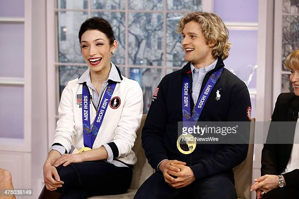 Meryl Davis and Charlie White appear on NBC News' 'Today' show