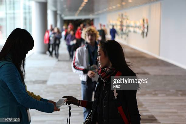 Meryl Davis arrives at the IBC to do interviews with NBC Photo by Ben Cohen/NBCU Photo Bank
